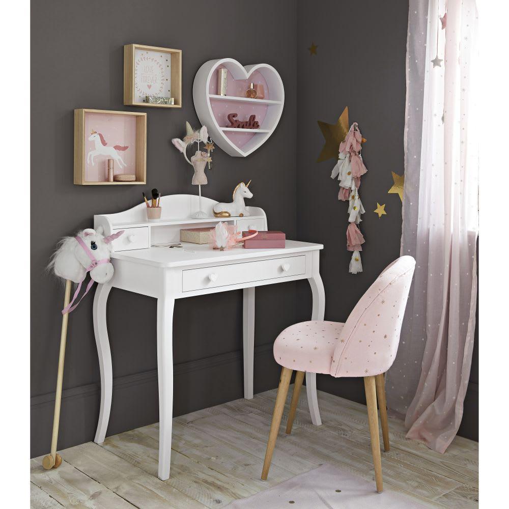 chaise vintage rose motifs toiles dor es mauricette. Black Bedroom Furniture Sets. Home Design Ideas