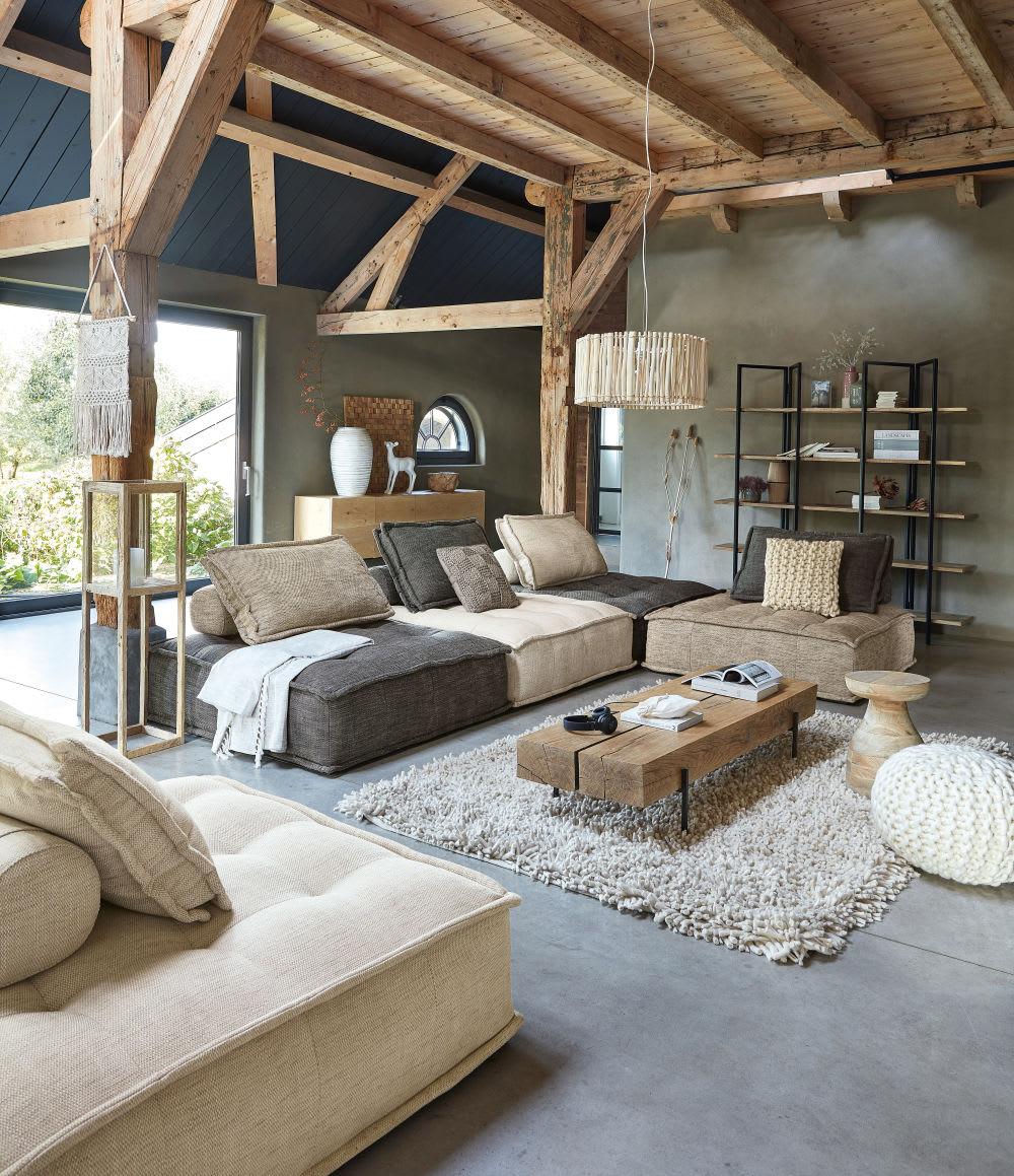 chauffeuse de canap marron elementary maisons du monde. Black Bedroom Furniture Sets. Home Design Ideas