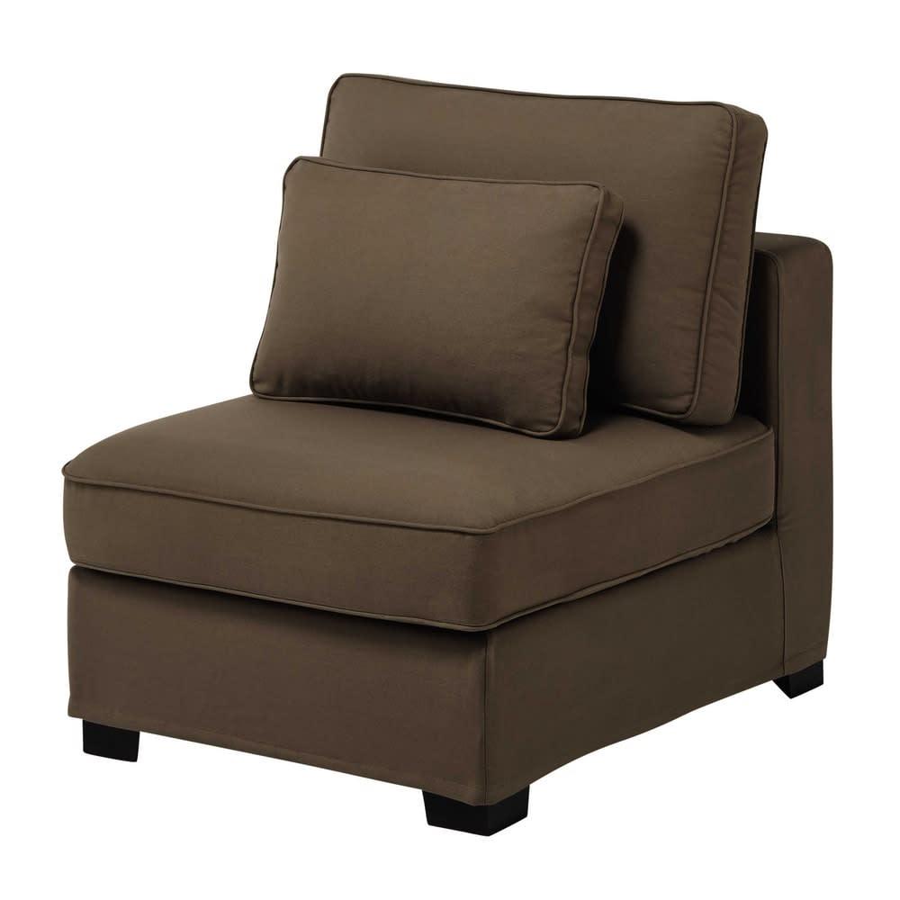 chauffeuse de canap modulable en coton taupe milano. Black Bedroom Furniture Sets. Home Design Ideas