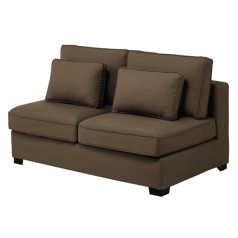 chauffeuse de canap modulable en coton taupe l 151 cm milano maisons du monde. Black Bedroom Furniture Sets. Home Design Ideas