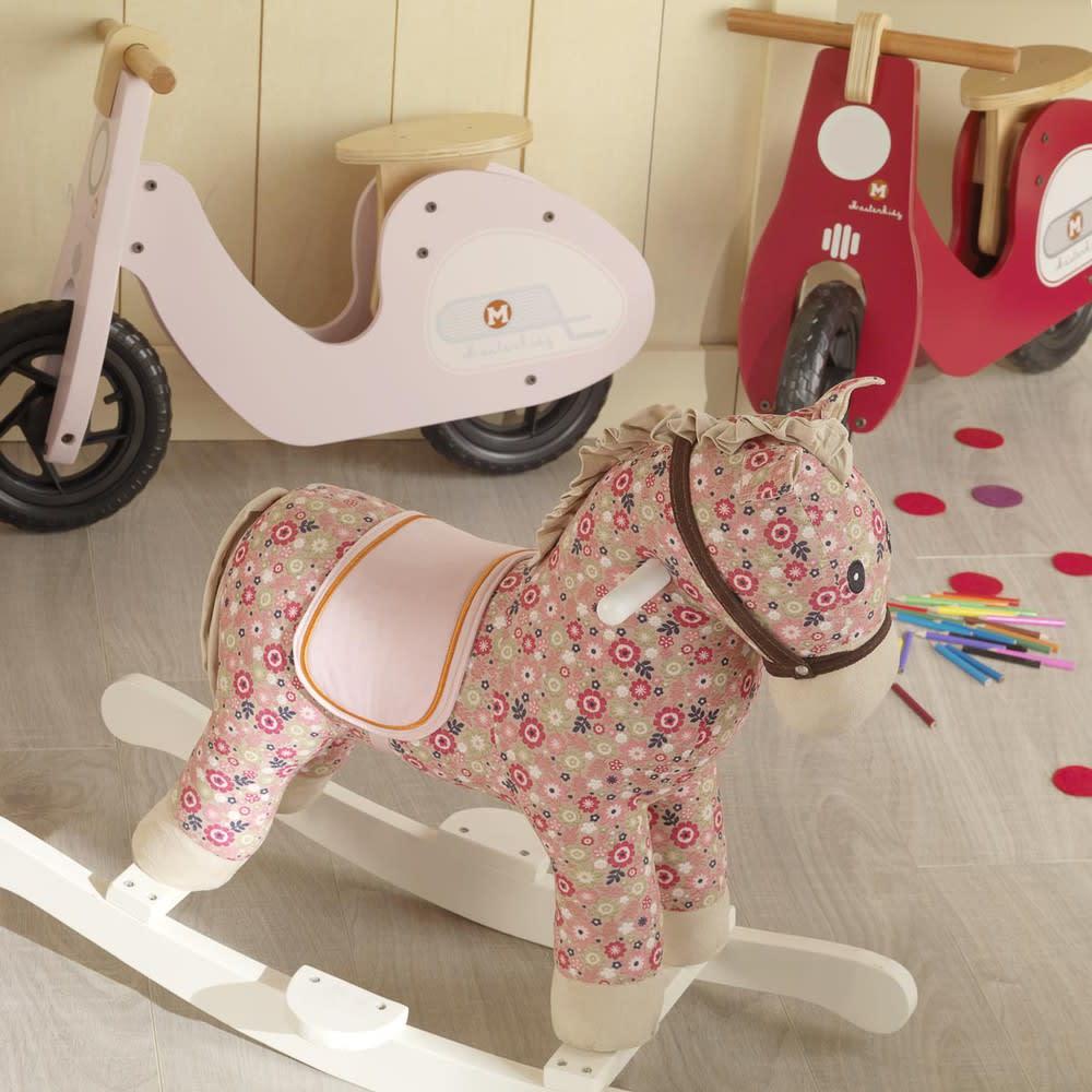 Cheval à bascule rose H 70 cm Pony | Maisons