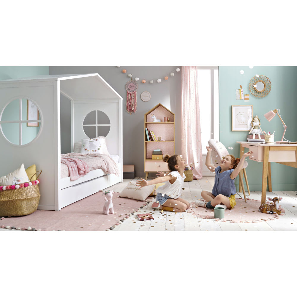 Children S White Cabin Bed 90 X 190 Bucolique