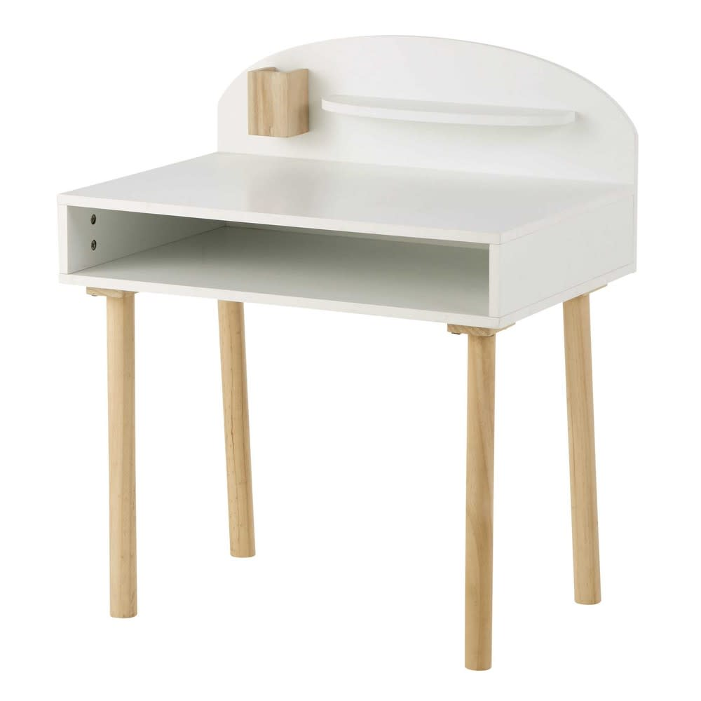 Children S White Desk Nuage