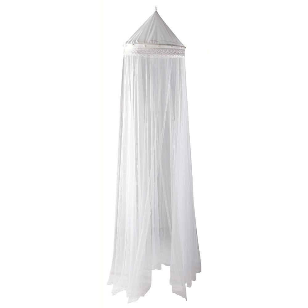 Charmant Ciel De Lit Blanc Pastel