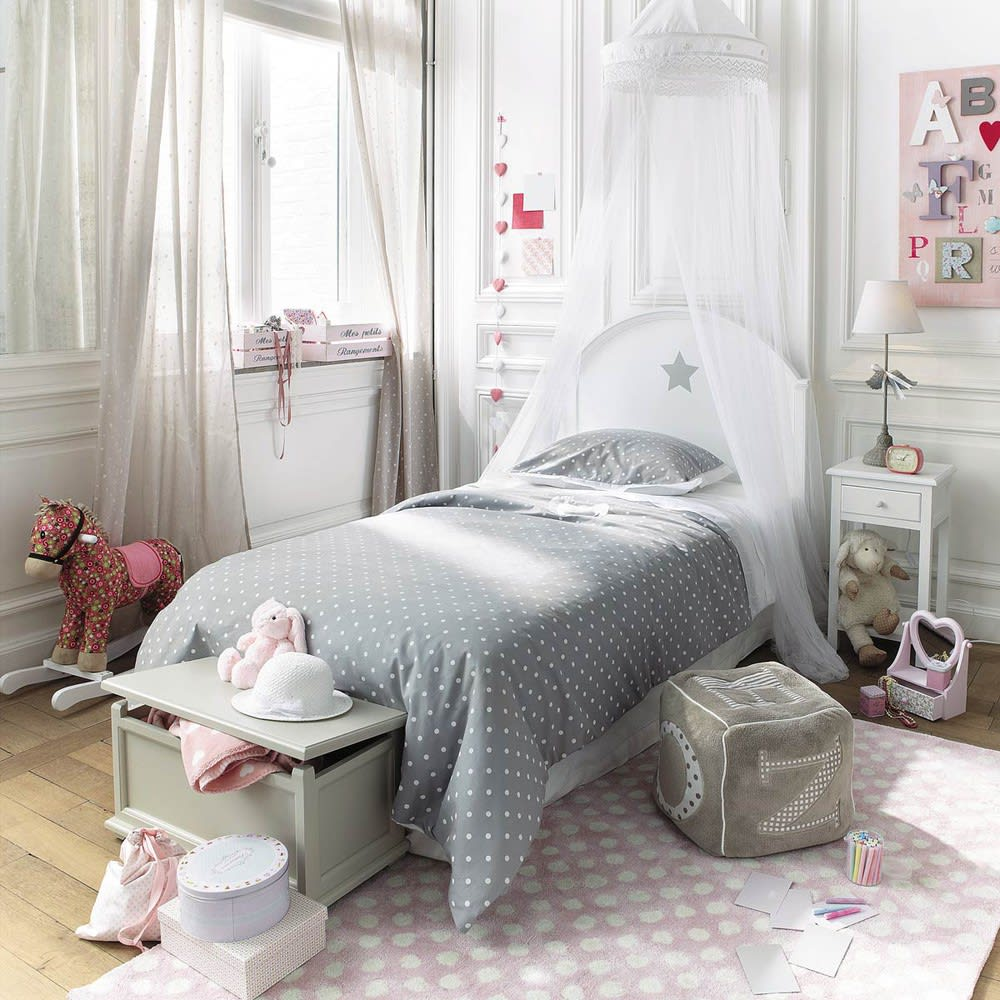ciel de lit blanc pastel maisons du monde. Black Bedroom Furniture Sets. Home Design Ideas
