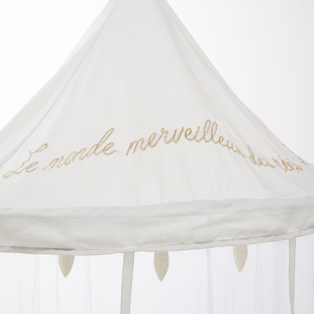 ciel de lit enfant blanc et dor bird song maisons du monde. Black Bedroom Furniture Sets. Home Design Ideas