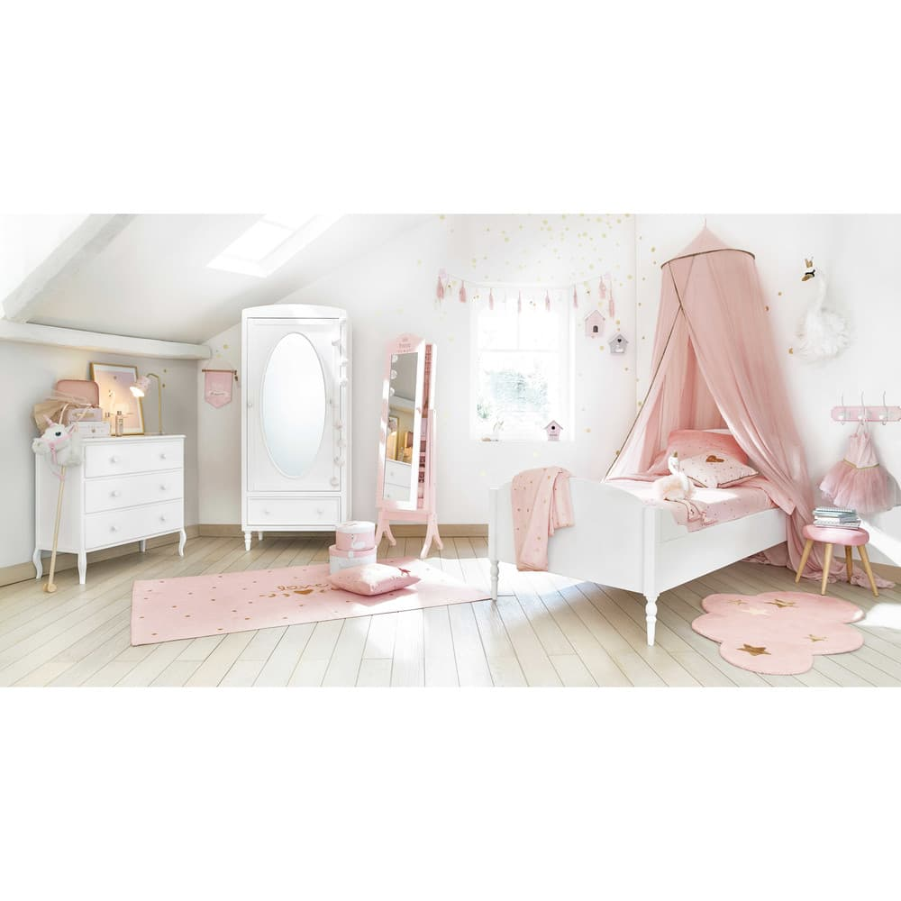 ciel de lit enfant rose lilly maisons du monde. Black Bedroom Furniture Sets. Home Design Ideas