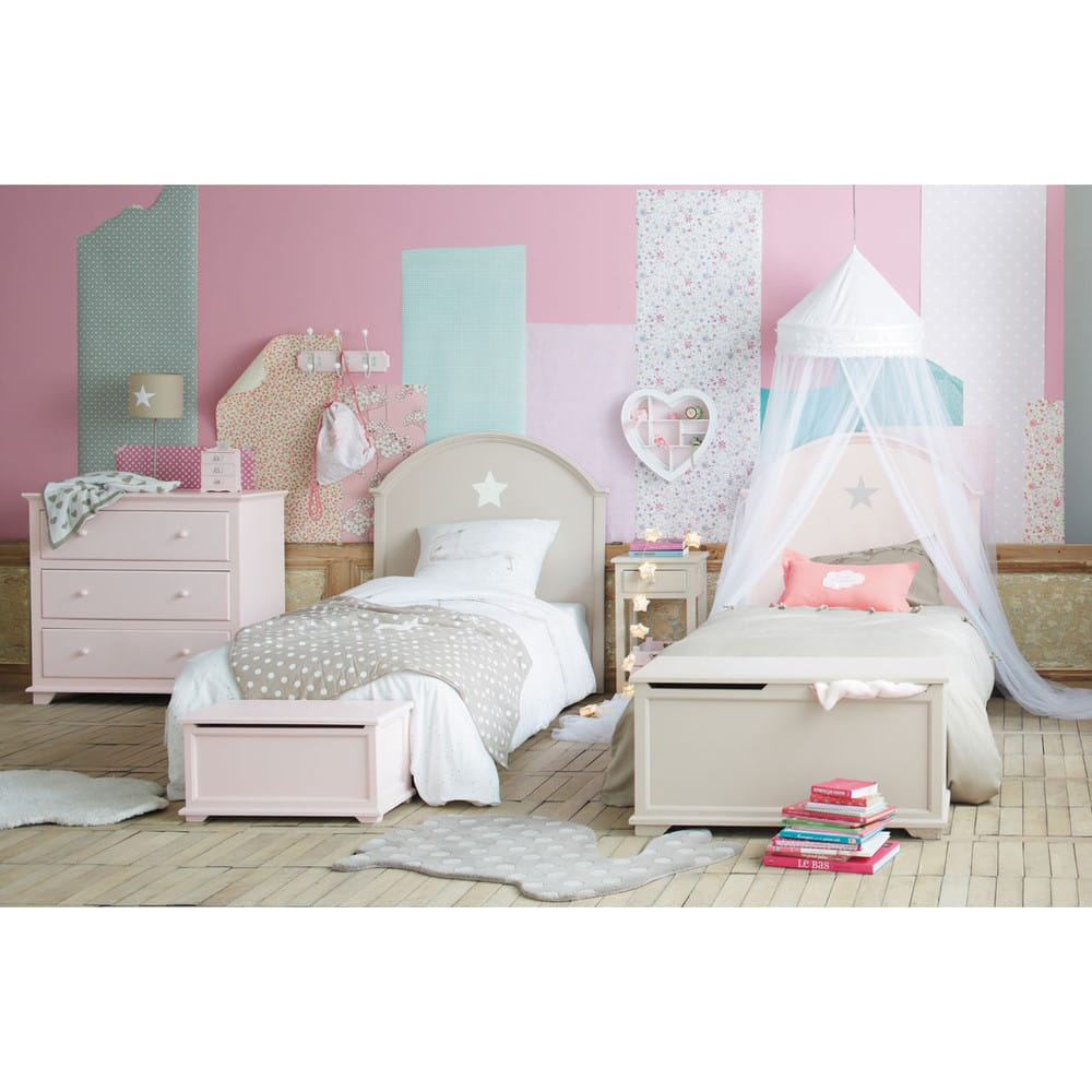 ciel de lit pour enfant blanc l 60 cm pastel maisons du. Black Bedroom Furniture Sets. Home Design Ideas