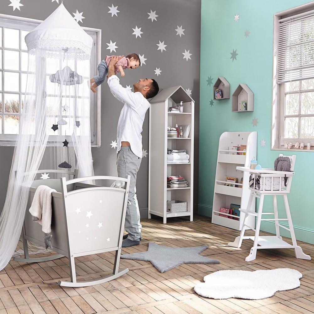 Ciel de lit pour enfant blanc L 60 cm Pastel | Maisons du Monde