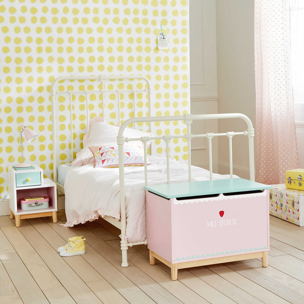 coffre jouets enfant rose berlingot maisons du monde. Black Bedroom Furniture Sets. Home Design Ideas