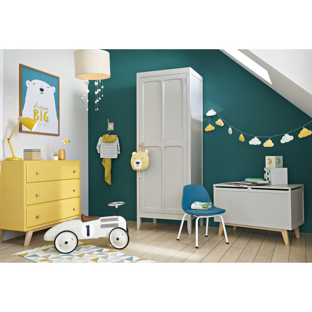 coffre jouets gris sweet maisons du monde. Black Bedroom Furniture Sets. Home Design Ideas