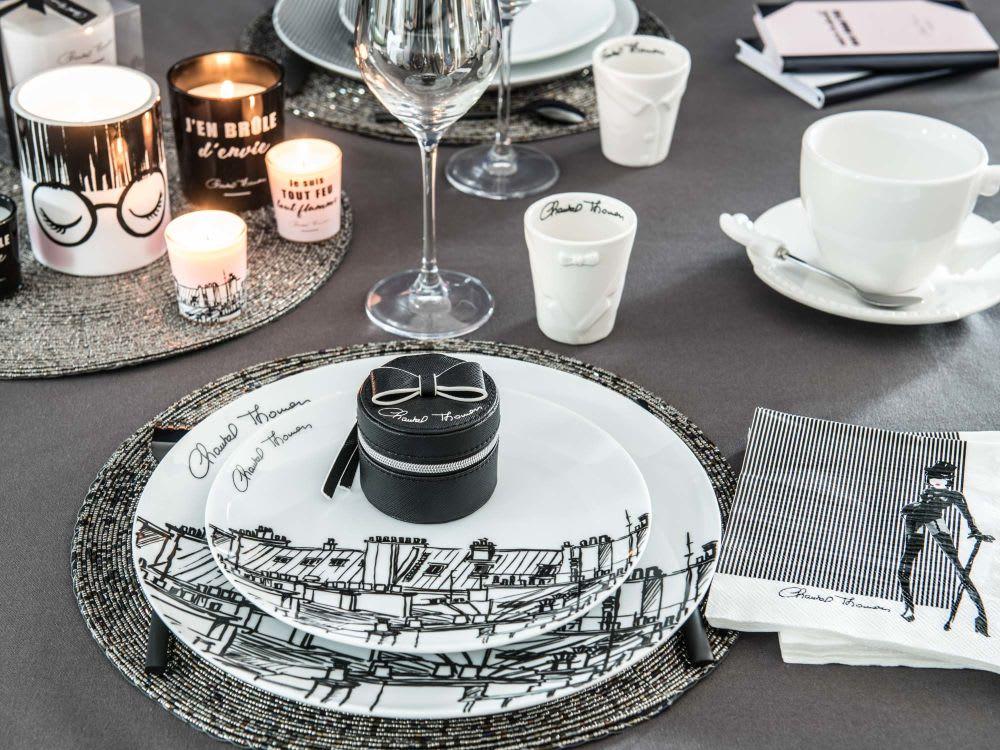 Coffret 4 tasses en porcelaine blanche chantal thomass maisons du monde - Tasse maison du monde ...