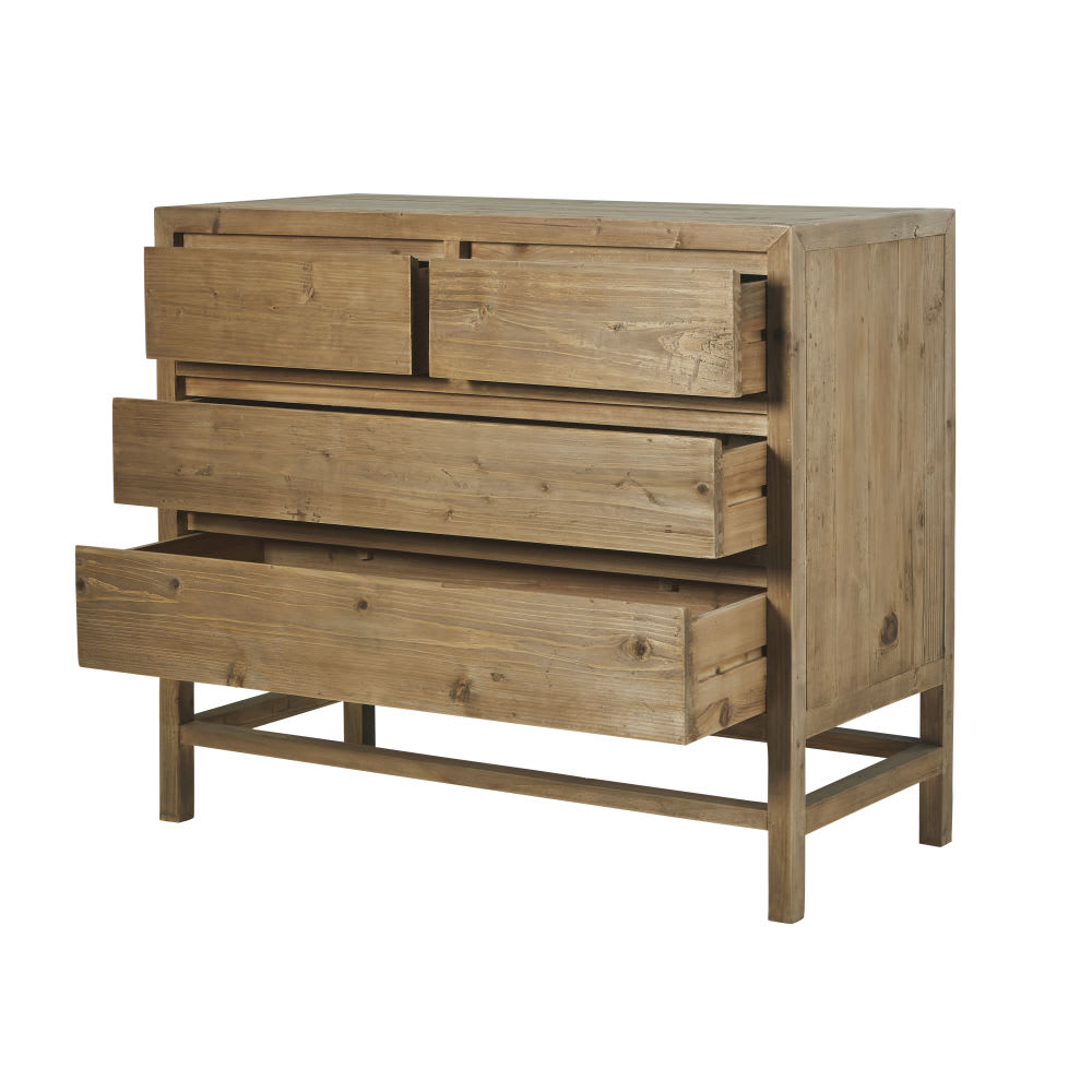 commode 4 tiroirs en pin recycl cappadoce maisons du monde. Black Bedroom Furniture Sets. Home Design Ideas