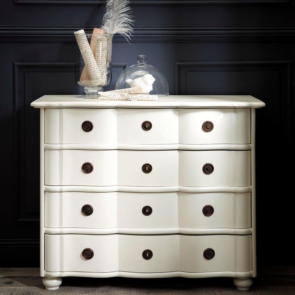 commode 4 tiroirs ivoire gustavia maisons du monde. Black Bedroom Furniture Sets. Home Design Ideas