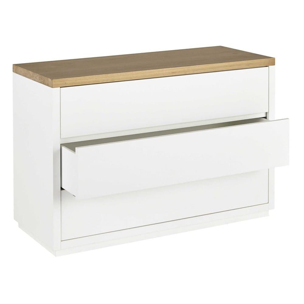commode blanche 3 tiroirs austral maisons du monde. Black Bedroom Furniture Sets. Home Design Ideas