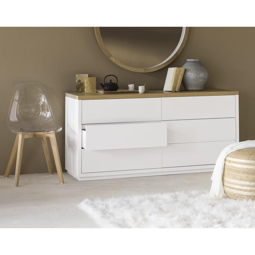 commode blanche 6 tiroirs austral maisons du monde. Black Bedroom Furniture Sets. Home Design Ideas