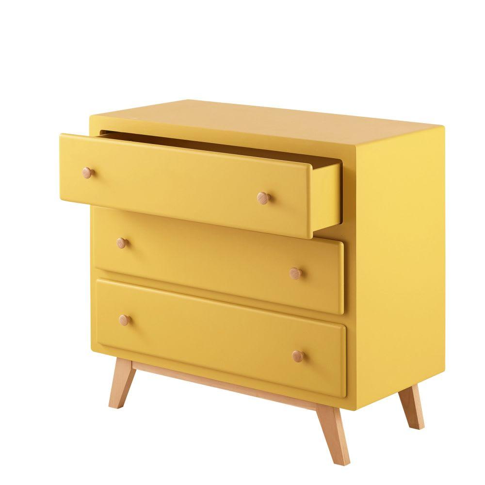 commode compatible plan langer 3 tiroirs jaune sweet 2. Black Bedroom Furniture Sets. Home Design Ideas
