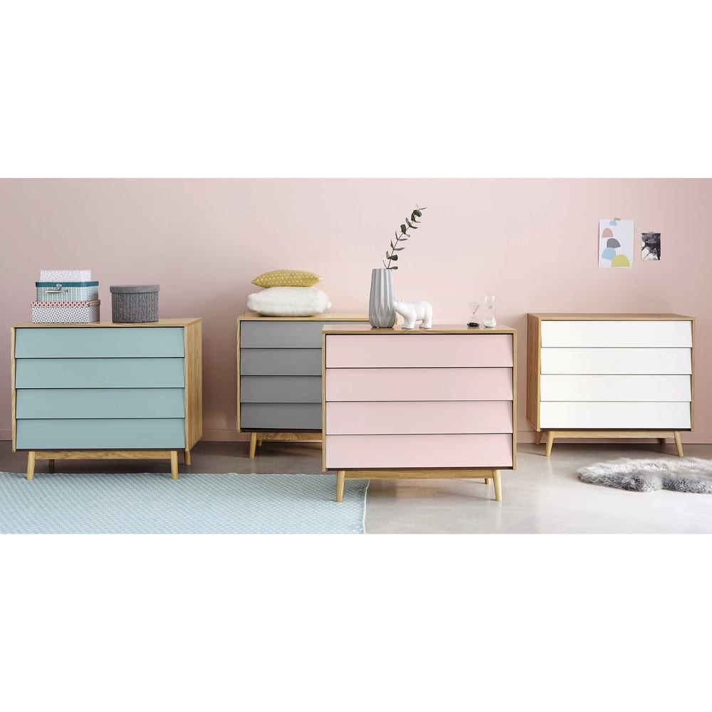 commode vintage 4 tiroirs grise fjord maisons du monde. Black Bedroom Furniture Sets. Home Design Ideas