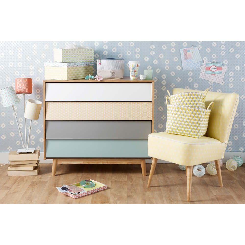 commode vintage 4 tiroirs multicolore fjord maisons du monde. Black Bedroom Furniture Sets. Home Design Ideas
