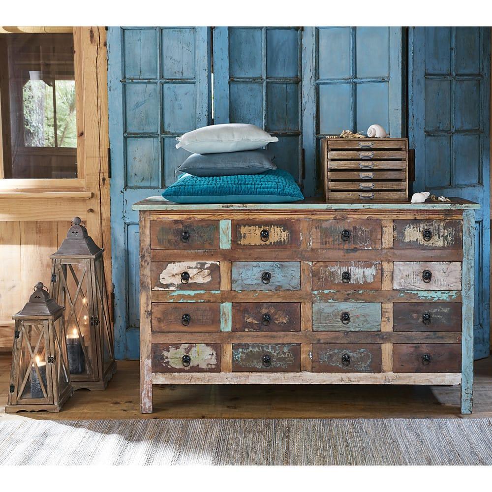 comptoir en bois recycl multicolore calanque maisons du. Black Bedroom Furniture Sets. Home Design Ideas