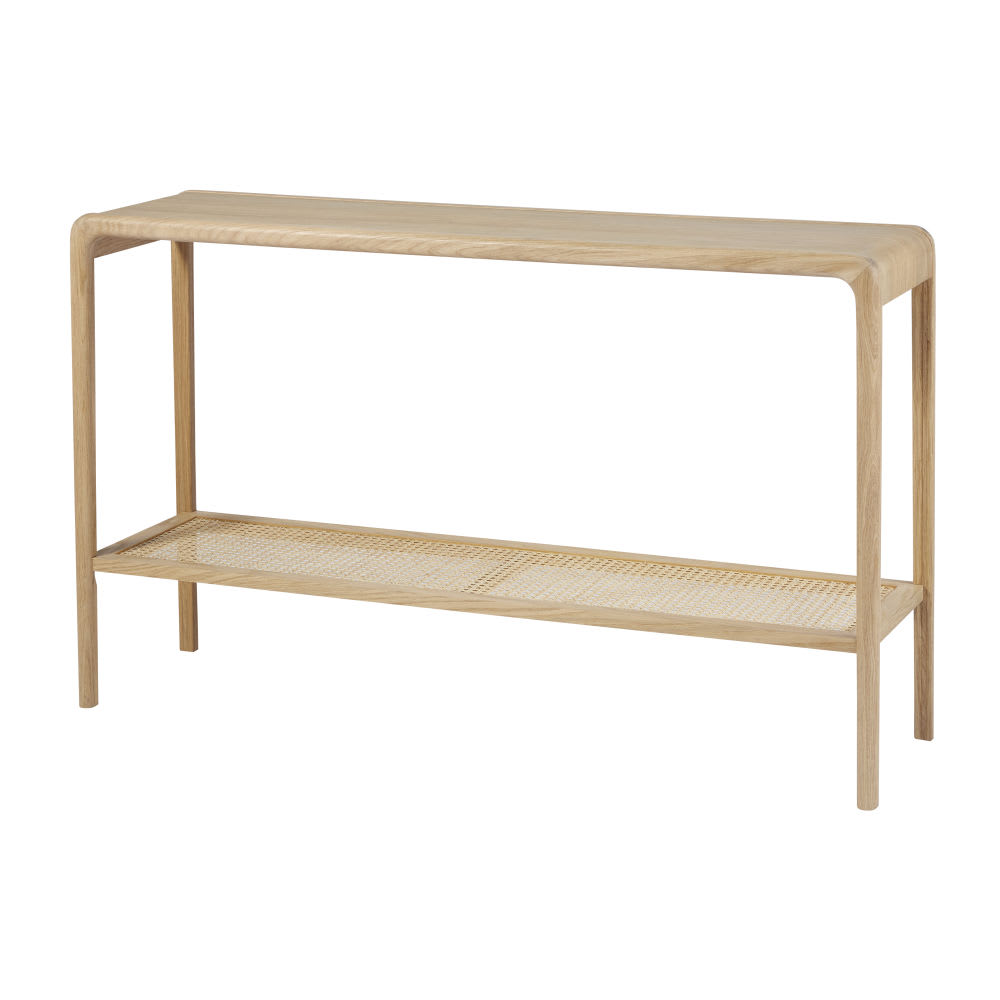 Console Table With Rattan Canopy