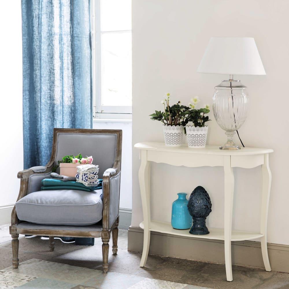 Consolle bianca in legno l 94 cm s raphine maisons du monde for Consolle bianca
