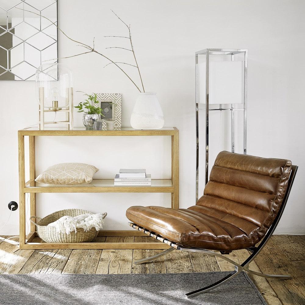 Consolle in legno massello di frassino e vetro temprato   Maisons du ...