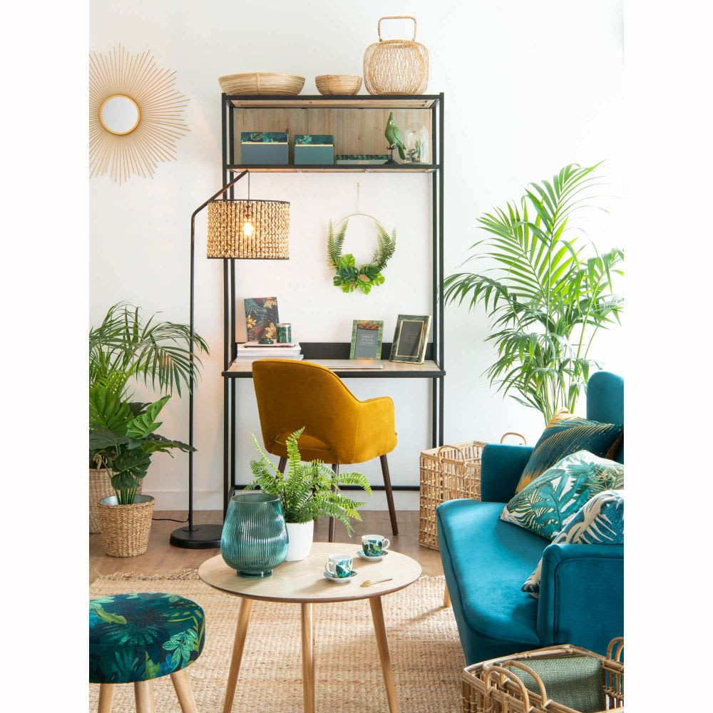corbeille ronde en osier d 22 cm jungle maisons du monde. Black Bedroom Furniture Sets. Home Design Ideas