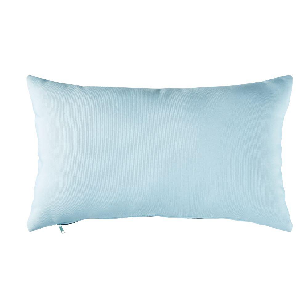 coussin d 39 ext rieur bleu motifs 30x50 j 39 ai piscine maisons du monde. Black Bedroom Furniture Sets. Home Design Ideas