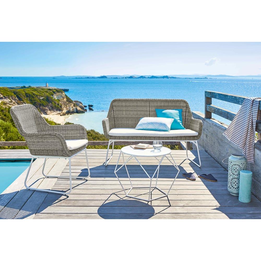 coussin d 39 ext rieur bleu turquoise 40x40 maisons du monde. Black Bedroom Furniture Sets. Home Design Ideas