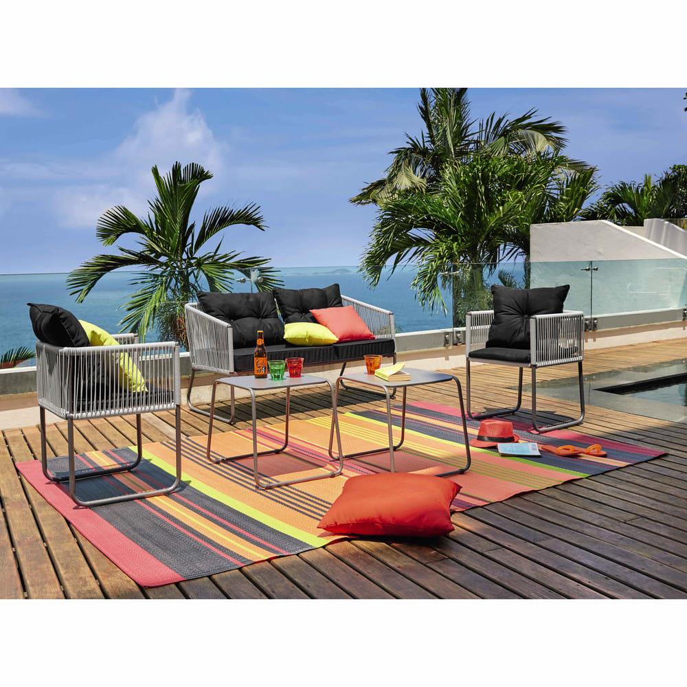 coussin d 39 ext rieur jaune 50x50 maisons du monde. Black Bedroom Furniture Sets. Home Design Ideas