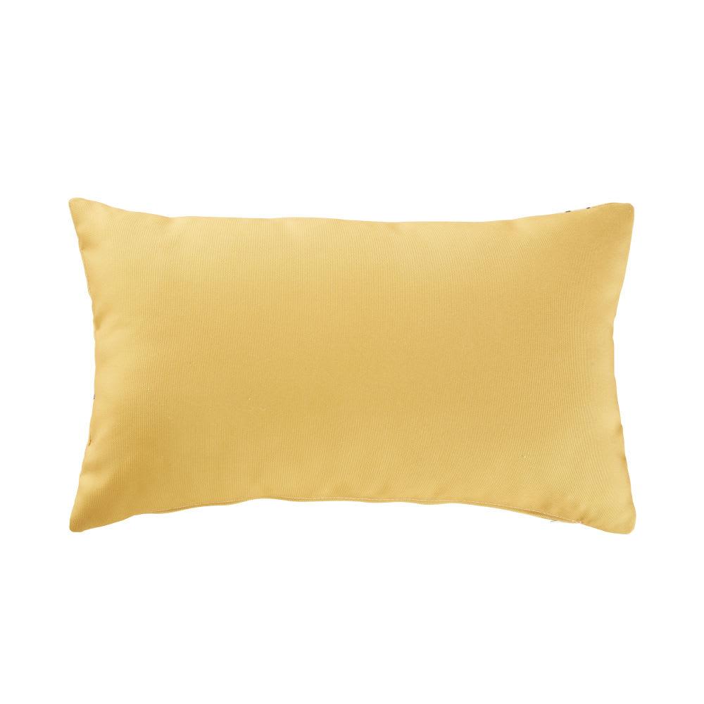 coussin d 39 ext rieur jaune imprim v g tal 30x50 chobe maisons du monde. Black Bedroom Furniture Sets. Home Design Ideas