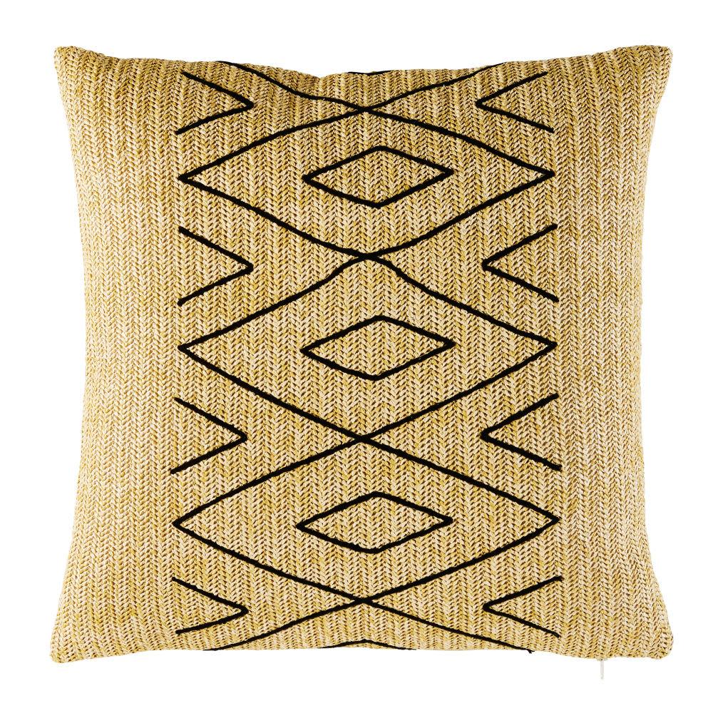 coussin d 39 ext rieur motifs graphiques noirs 50x50 mannar maisons du monde. Black Bedroom Furniture Sets. Home Design Ideas