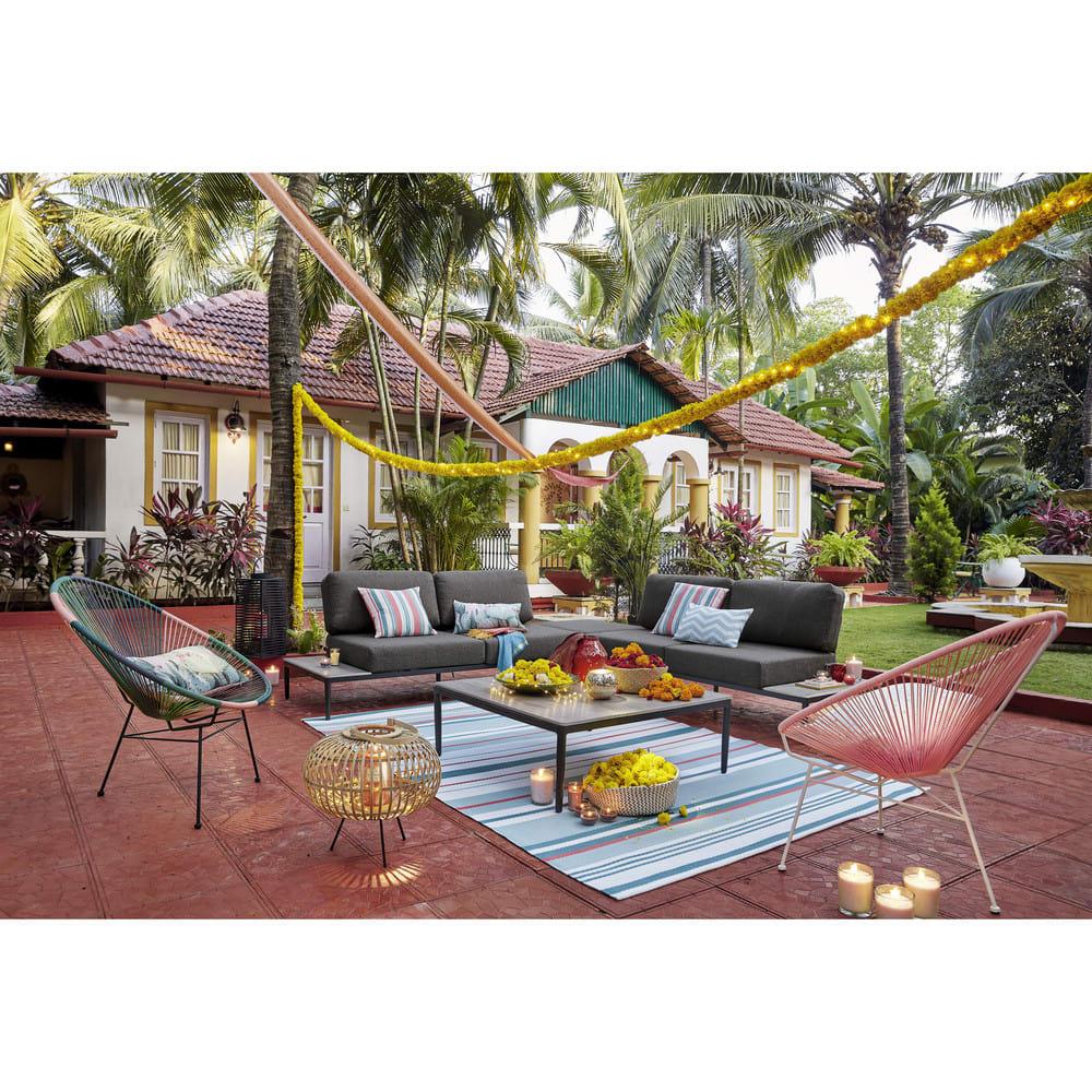 coussin d 39 ext rieur motifs rayures 45x45 paloma maisons du monde. Black Bedroom Furniture Sets. Home Design Ideas