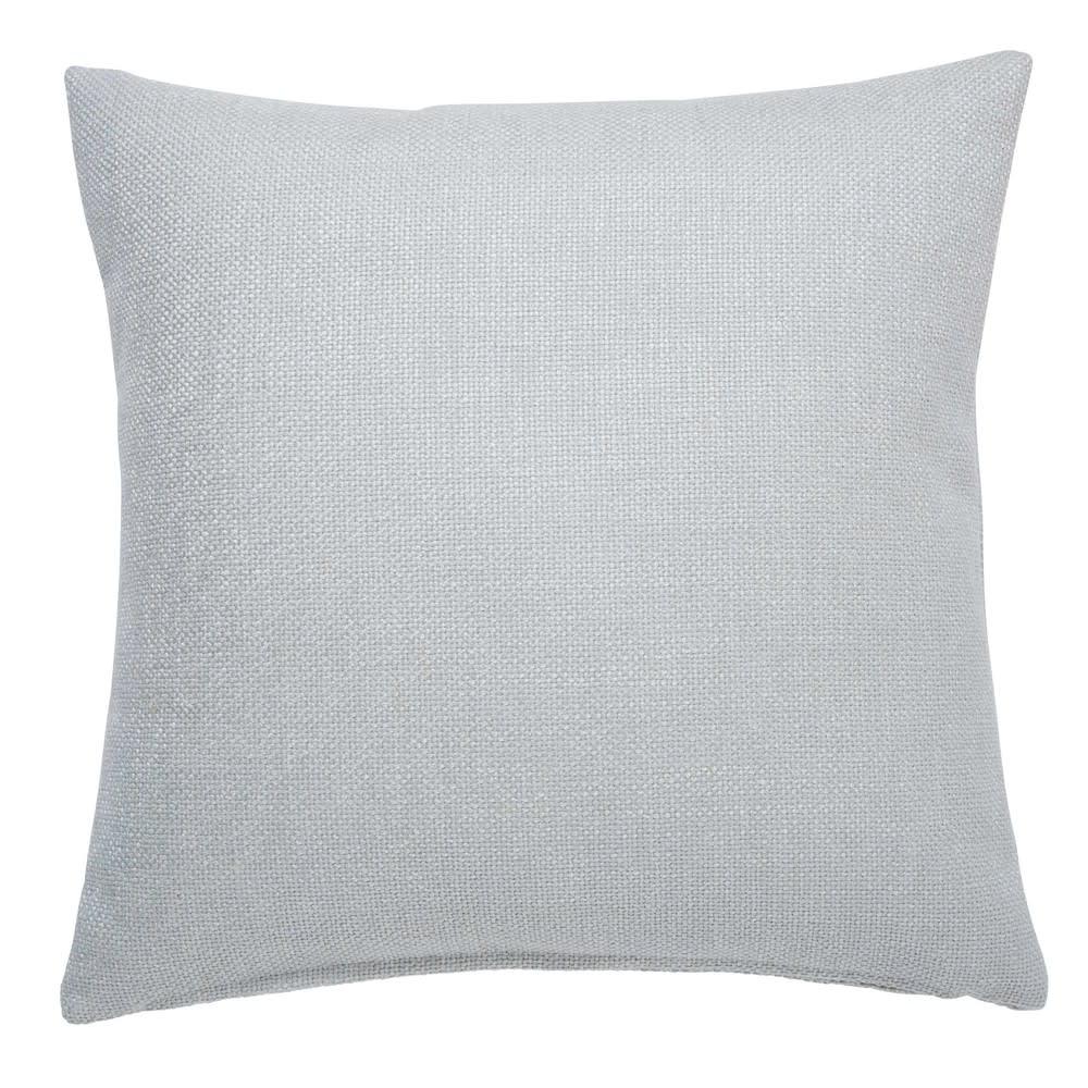 Coussin en coton gris perle 45x45cm Andy