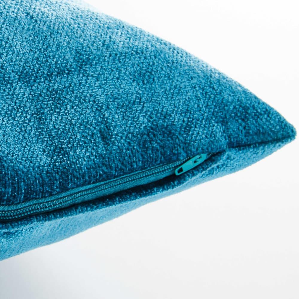 coussin en tissu bleu canard 45x54cm vintage velvet maisons du monde. Black Bedroom Furniture Sets. Home Design Ideas