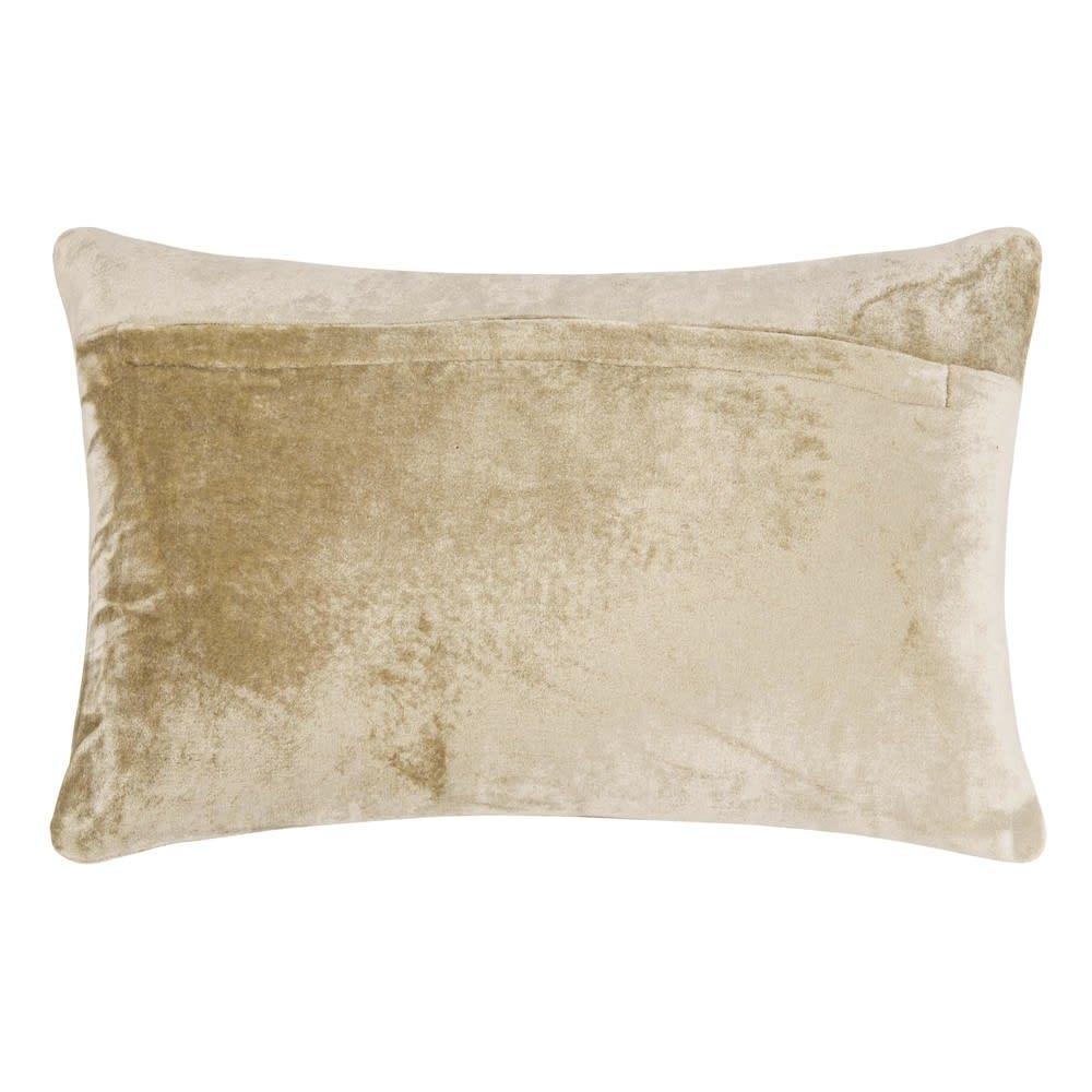 Coussin en tissu doré 40x25