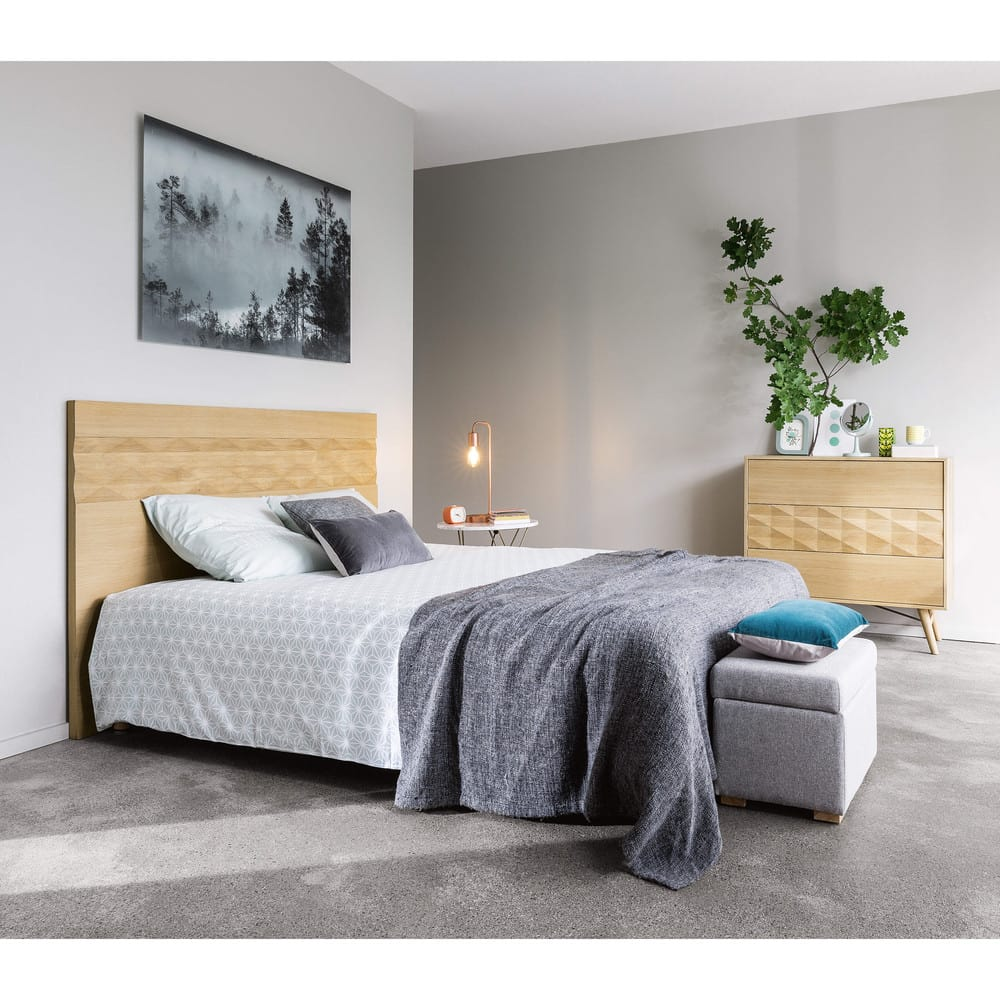 coussin en velours bleu canard 30x50 maisons du monde. Black Bedroom Furniture Sets. Home Design Ideas