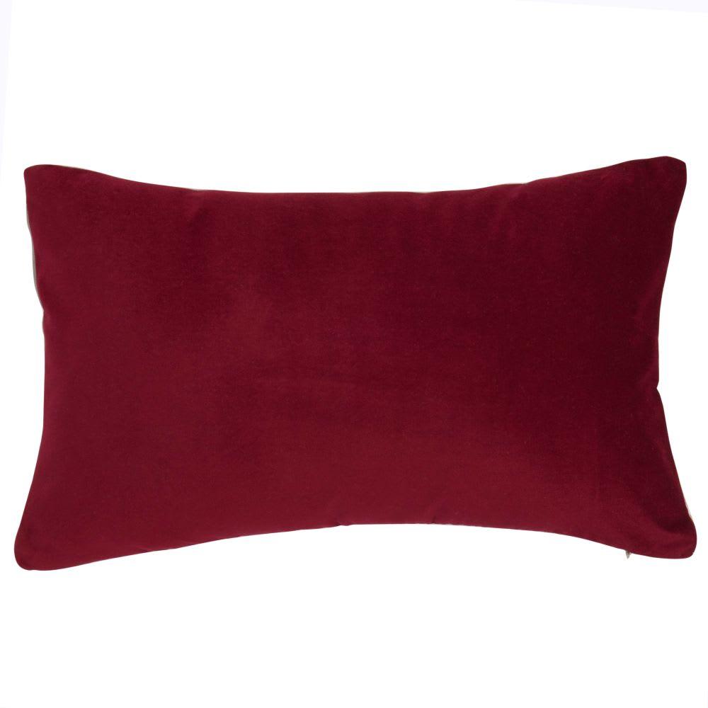 Coussin en velours rouge 30 x 50 cm | Maisons