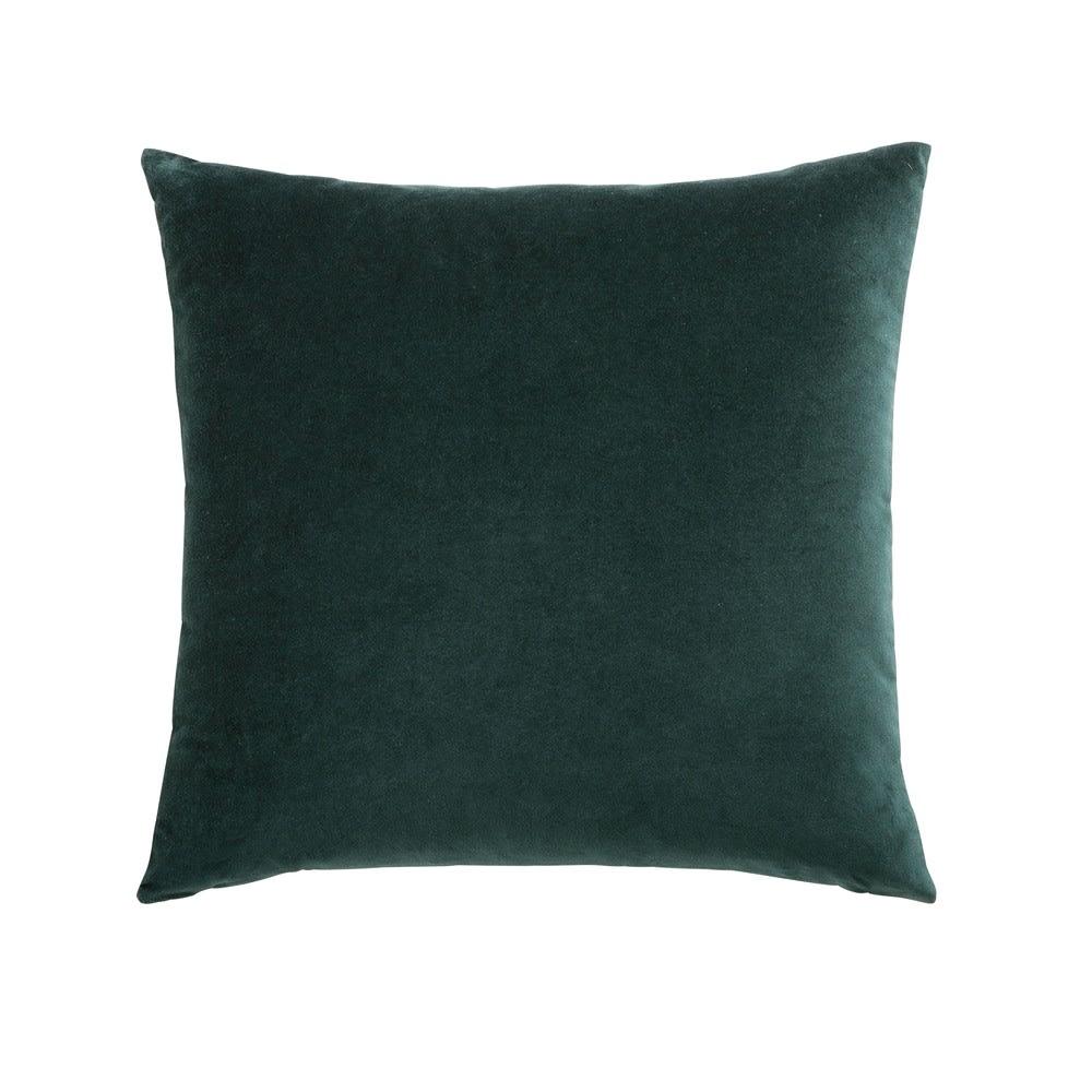 Coussin en velours vert émeraude 45x45  