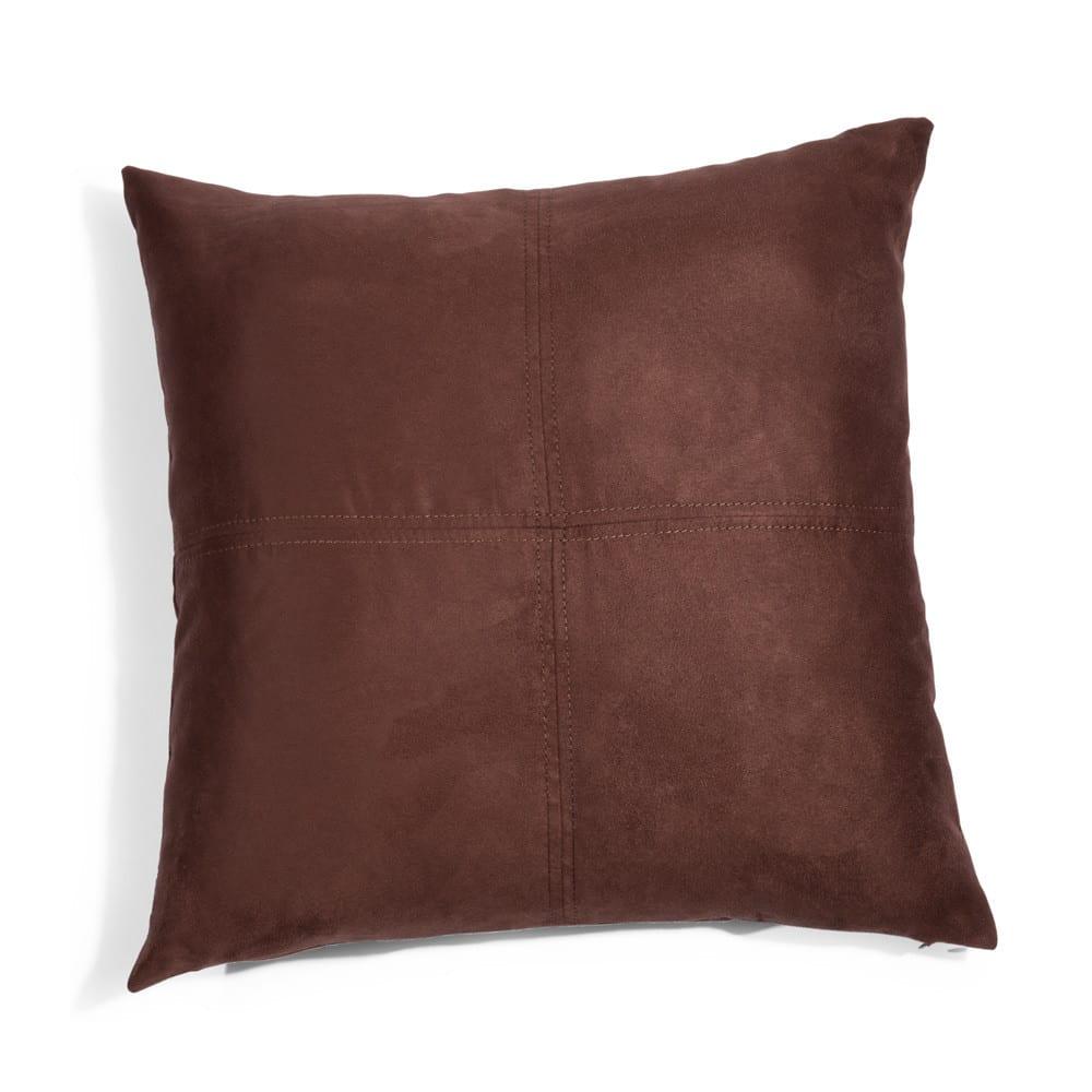 Coussin marron 40 x 40 cm