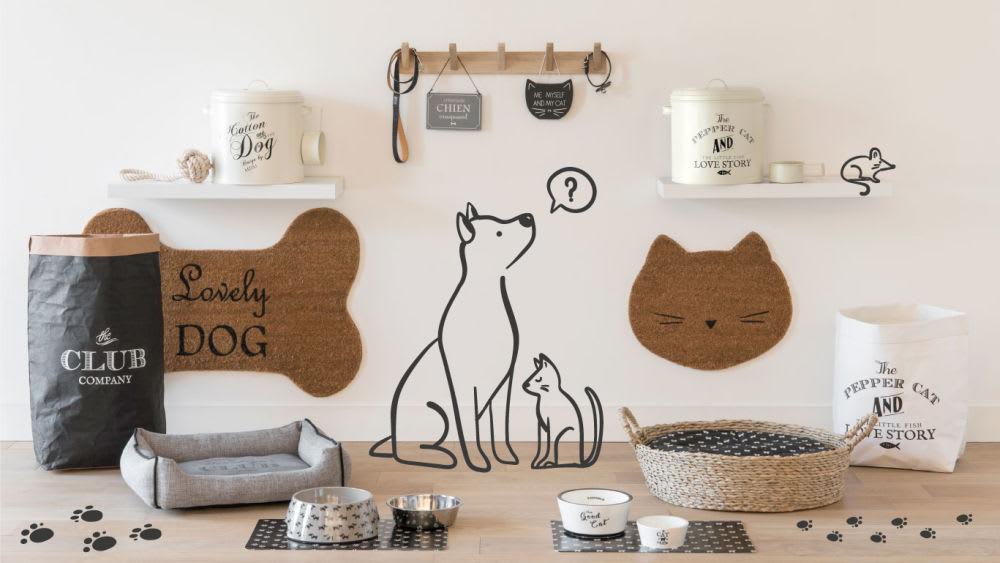 Coussin pour chien imprimé graphik maisons du monde
