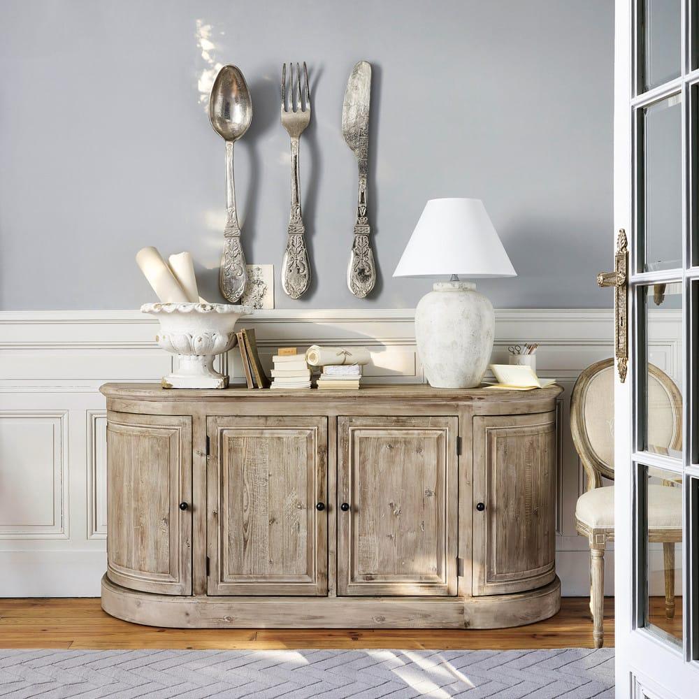 d co murale 3 couverts en m tal l 18 cm sylvestre. Black Bedroom Furniture Sets. Home Design Ideas