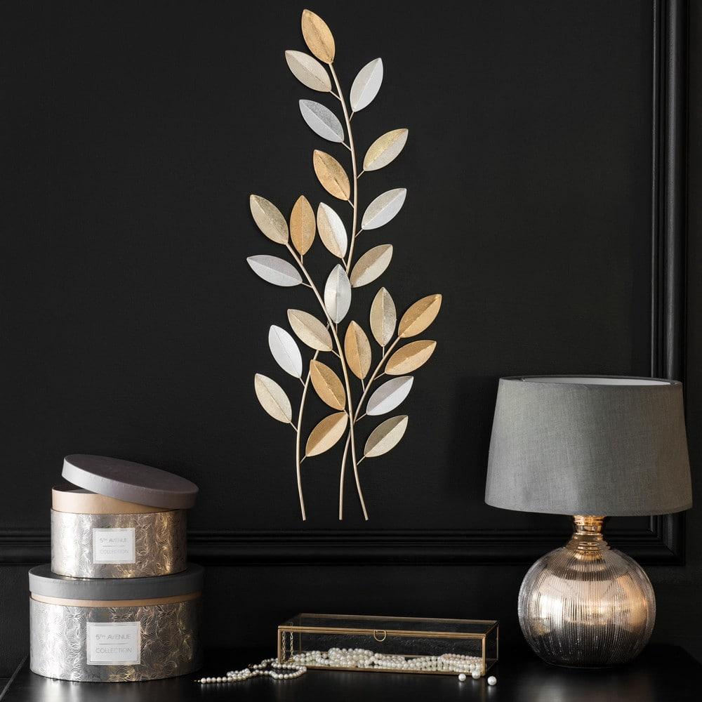 d co murale branchage en m tal 28x78 isabella maisons du. Black Bedroom Furniture Sets. Home Design Ideas
