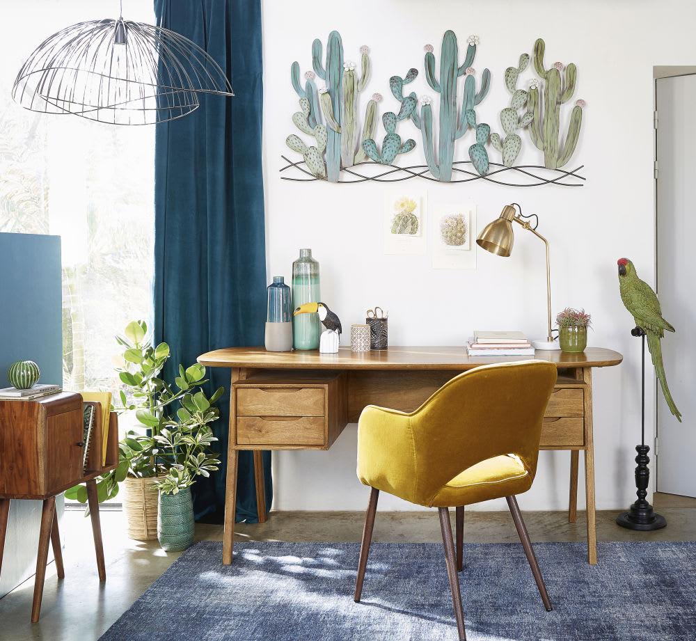 d co murale cactus en m tal 136x68 atacama maisons du monde. Black Bedroom Furniture Sets. Home Design Ideas