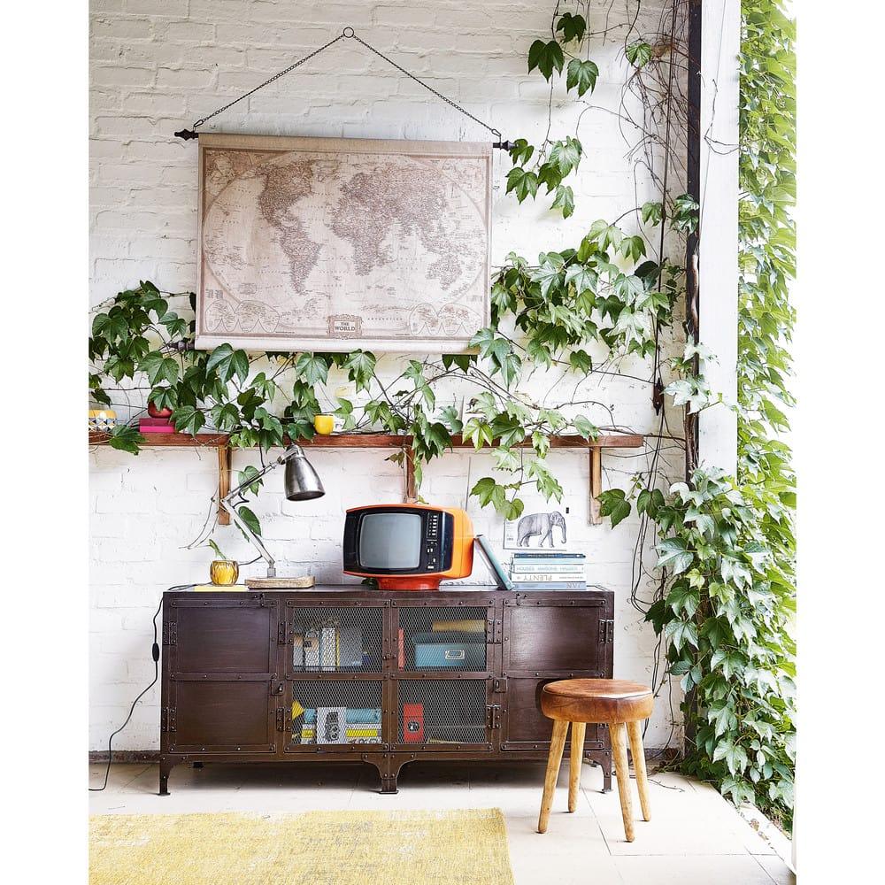 d co murale carte du monde 117x129 explorateur maisons du monde. Black Bedroom Furniture Sets. Home Design Ideas