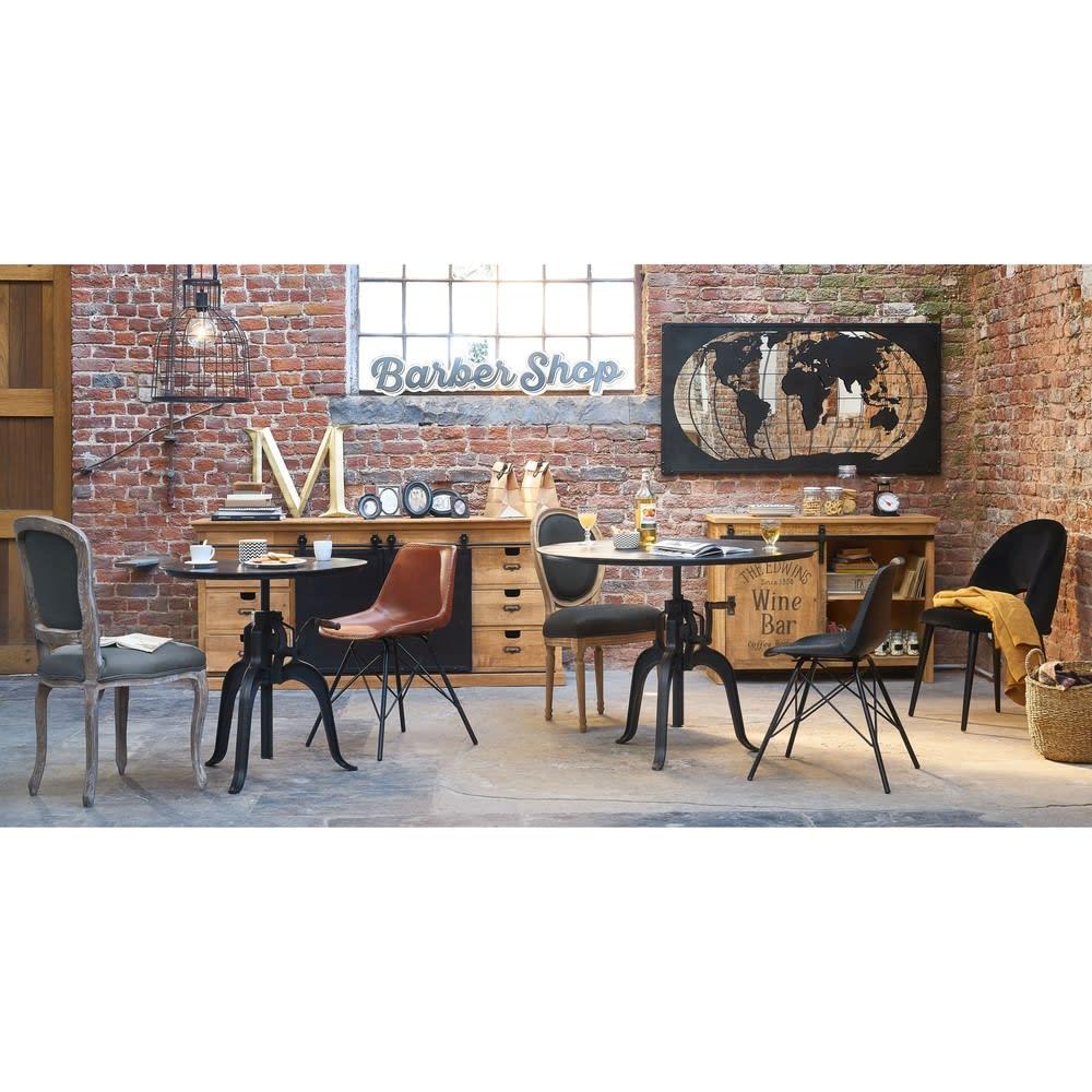 d co murale carte du monde en m tal noir 150x80 james. Black Bedroom Furniture Sets. Home Design Ideas