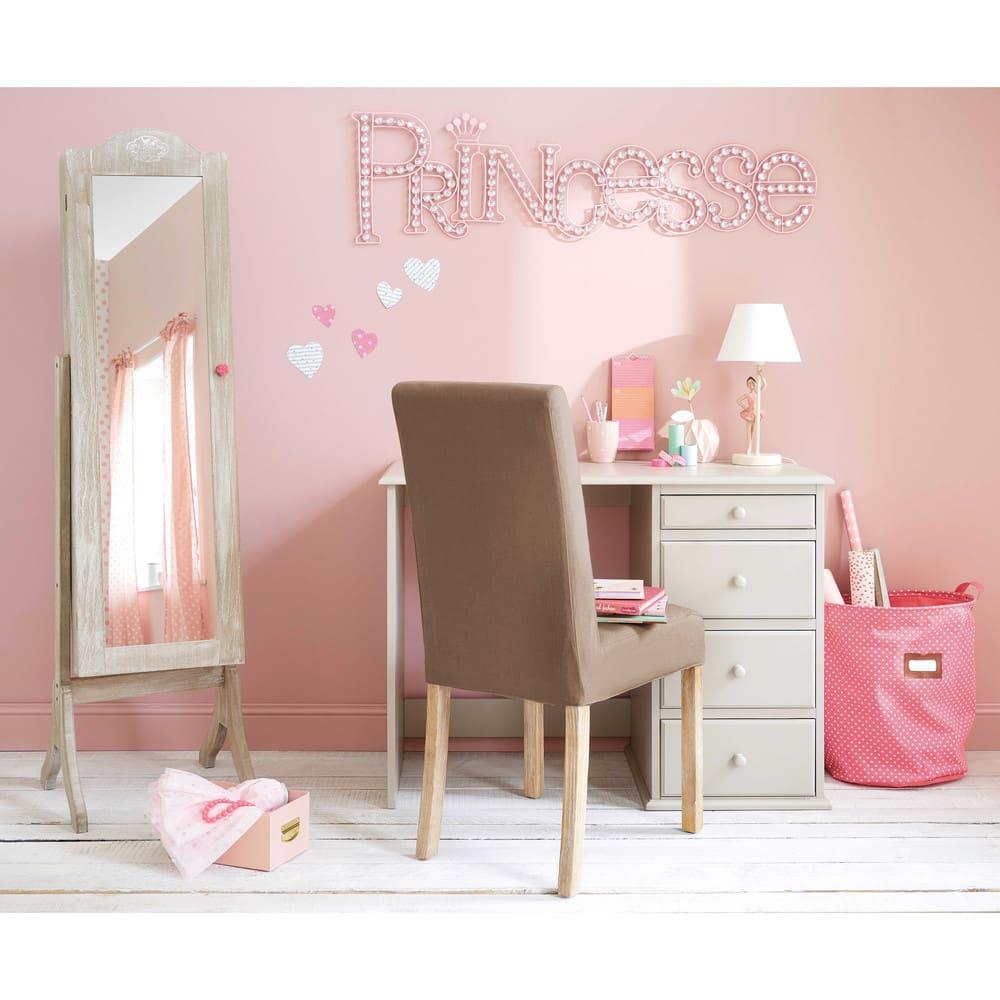 d co murale en m tal rose 35x118 princesse maisons du monde. Black Bedroom Furniture Sets. Home Design Ideas