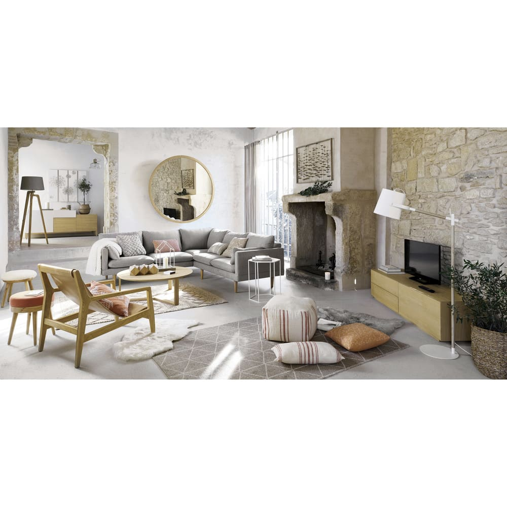 d co murale feuillage en m tal dor 102x66 living. Black Bedroom Furniture Sets. Home Design Ideas