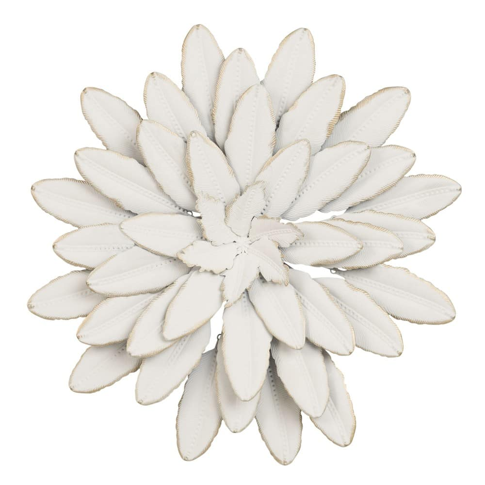 d co murale fleur en m tal blanc d41 flower maisons du monde. Black Bedroom Furniture Sets. Home Design Ideas